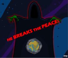 hero breaks the peace